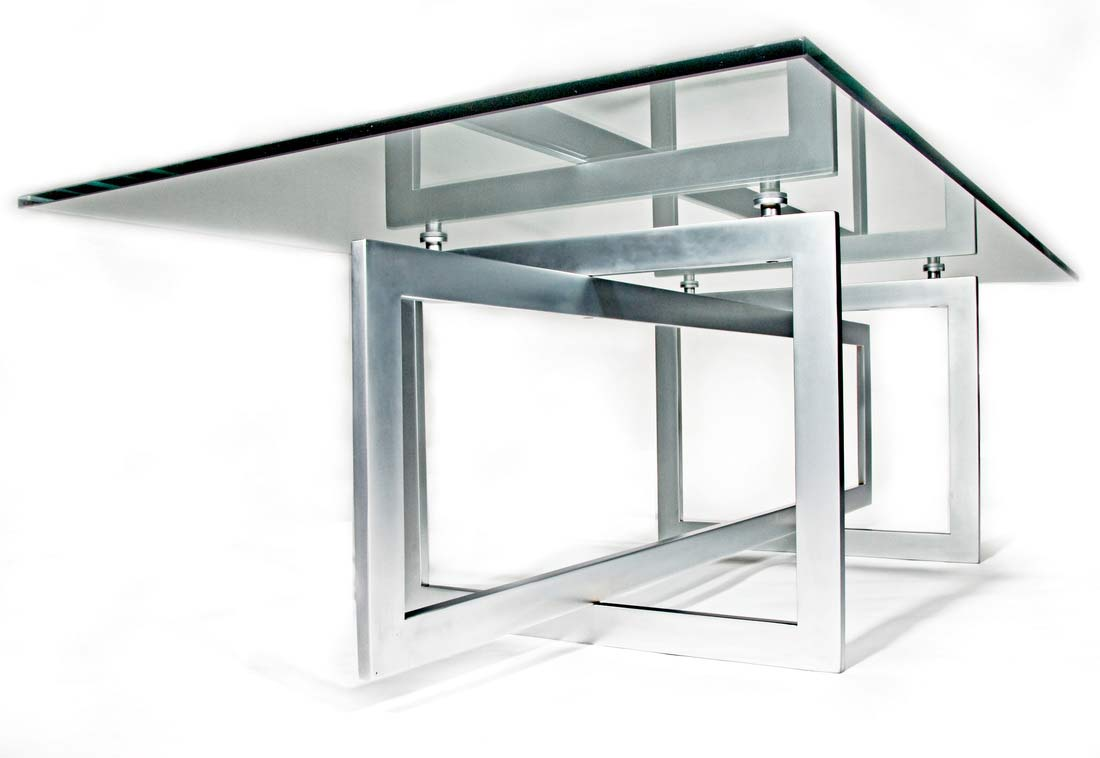 Metal Table Glass Metal Table Ambience Doré
