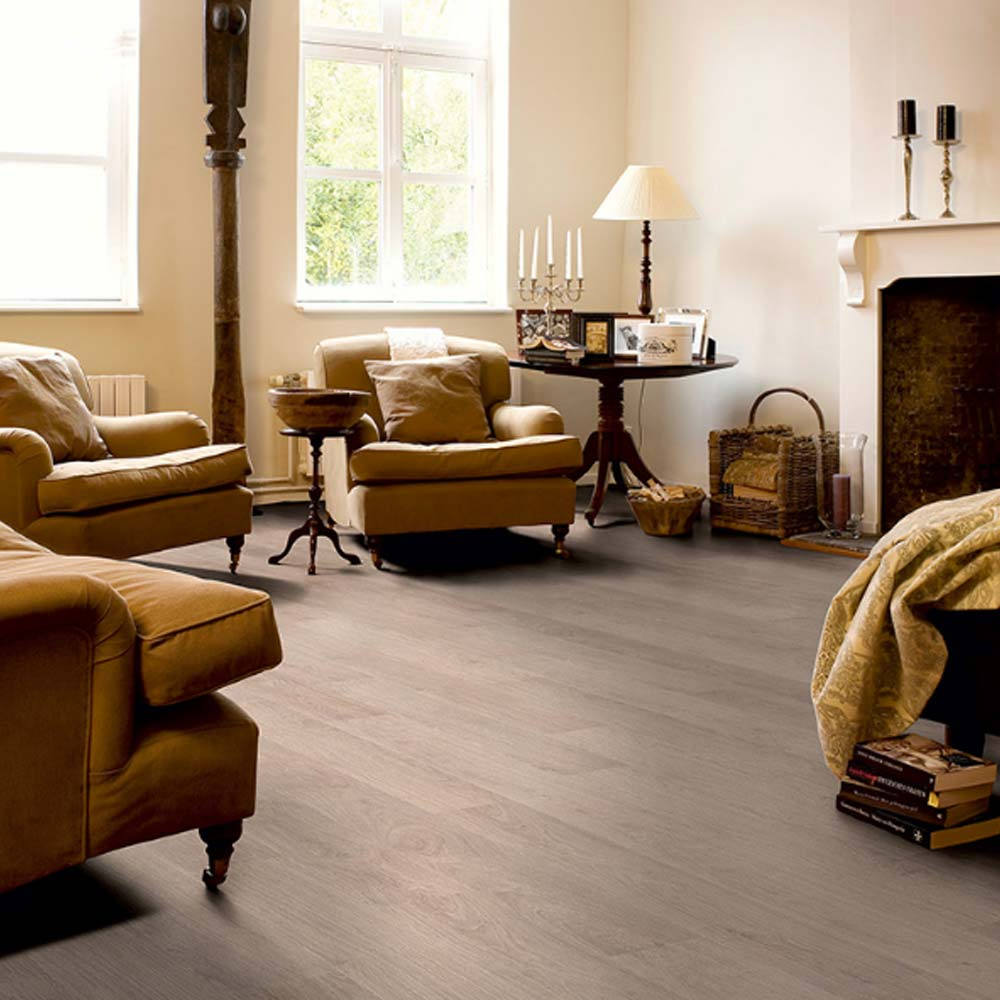 Quick Step Classic Quick Step Classic Bleached White Oak Planks Clm1291 Laminate Flooring