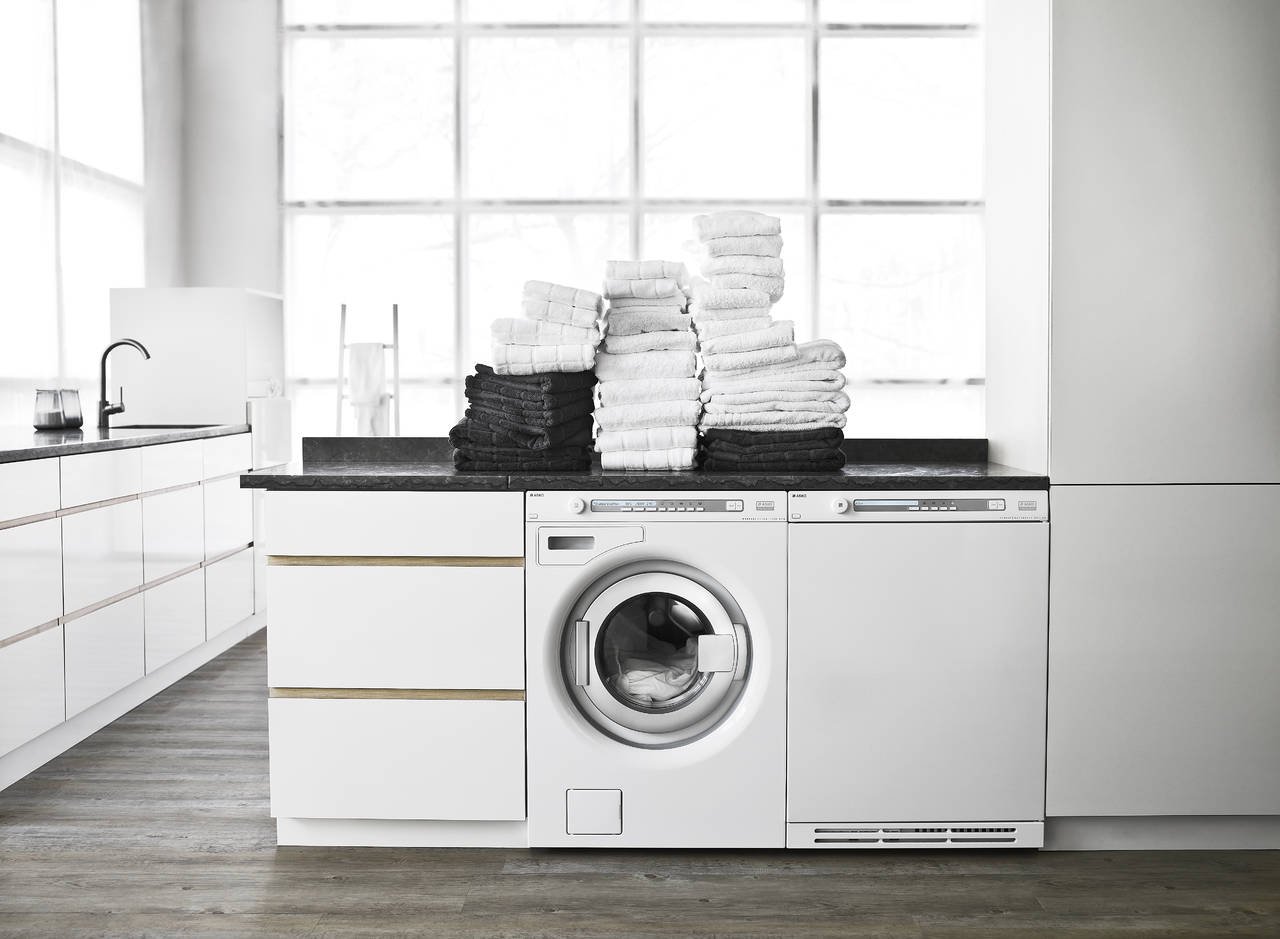 Lavatrice In Cucina | Cucine Su Una Sola Parete