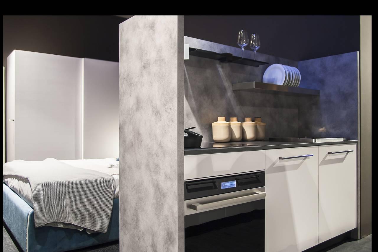 Cucina Monoblocco Senza Pensili | Altezza Piano Cucina Great Altezza ...
