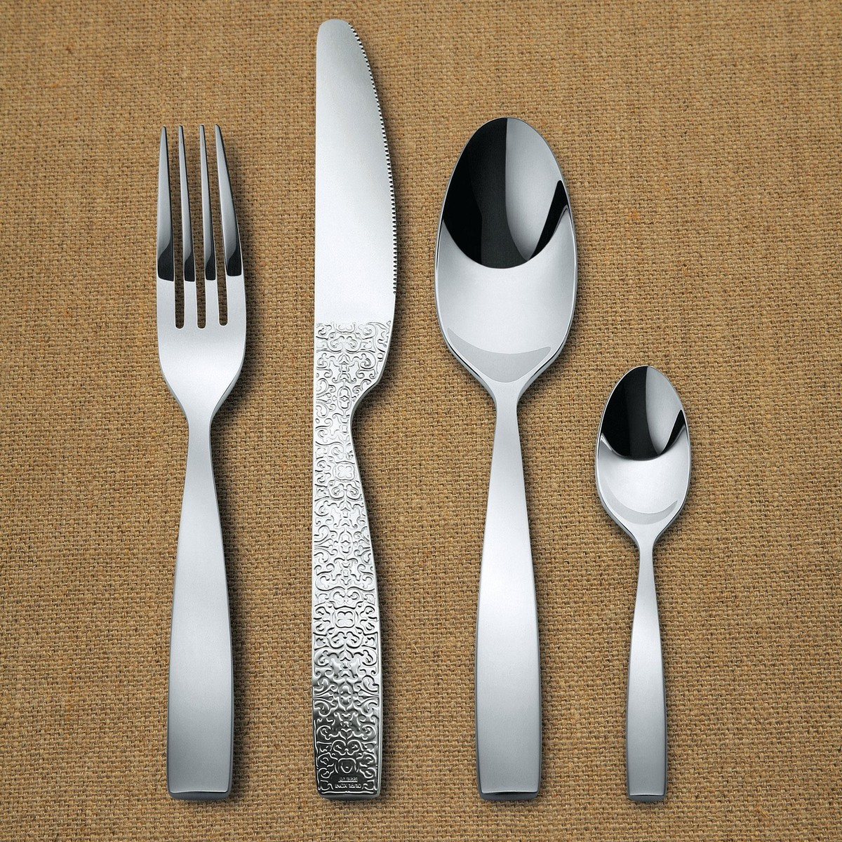 Alessi Silverware Dressed Cutlery Set 24 Piece Alessi Ambientedirect