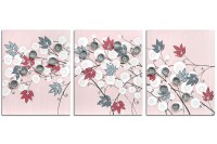 Girl Nursery Canvas Art Painting of Pink and Gray Flowers ...