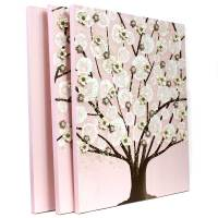 Pink and Brown Nursery Wall Art Tree on Canvas - Large ...