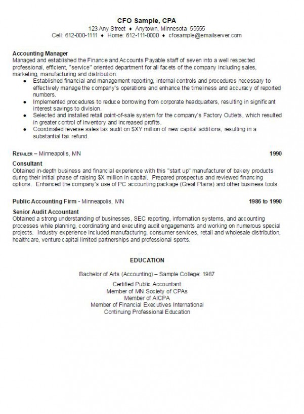 CFO Sample Resume AmbrionCFO Sample Resume - AMBRION - Minneapolis