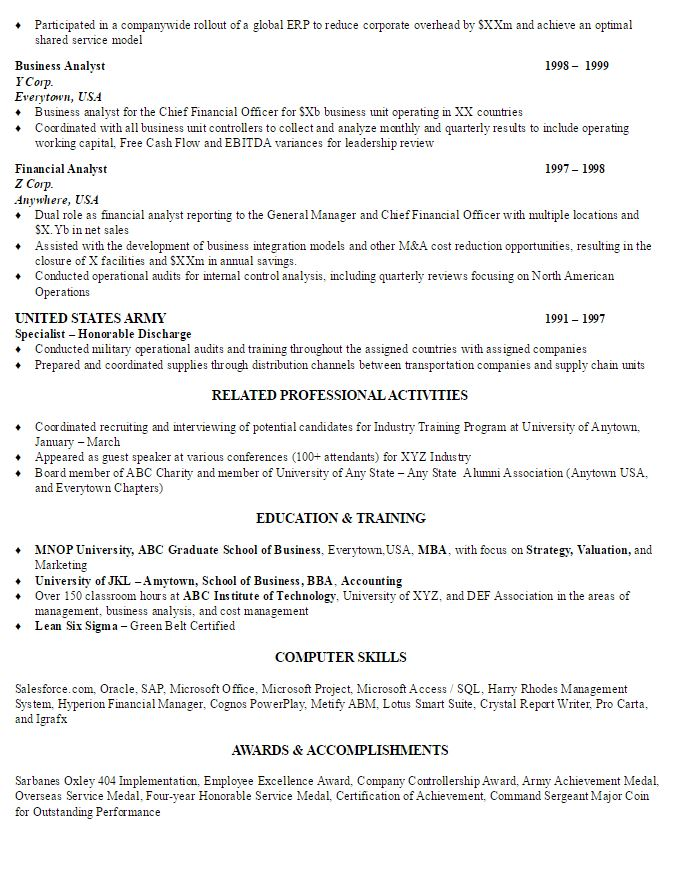 Finance Director Sample Resume AmbrionAMBRION - Minneapolis - director of finance resume