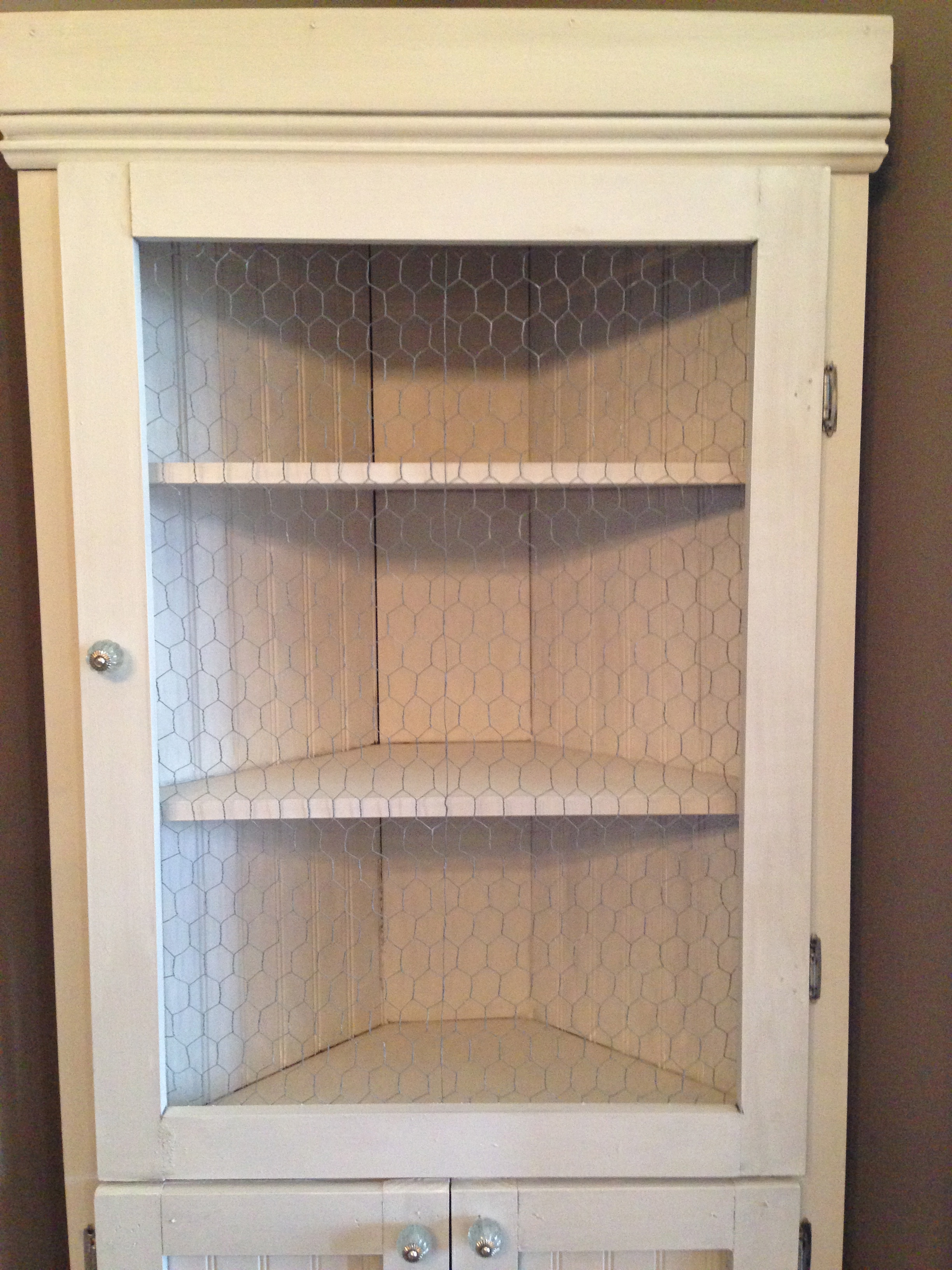 How To Build A Corner Kitchen Cabinet Diy Corner Hutch The Sweet Life