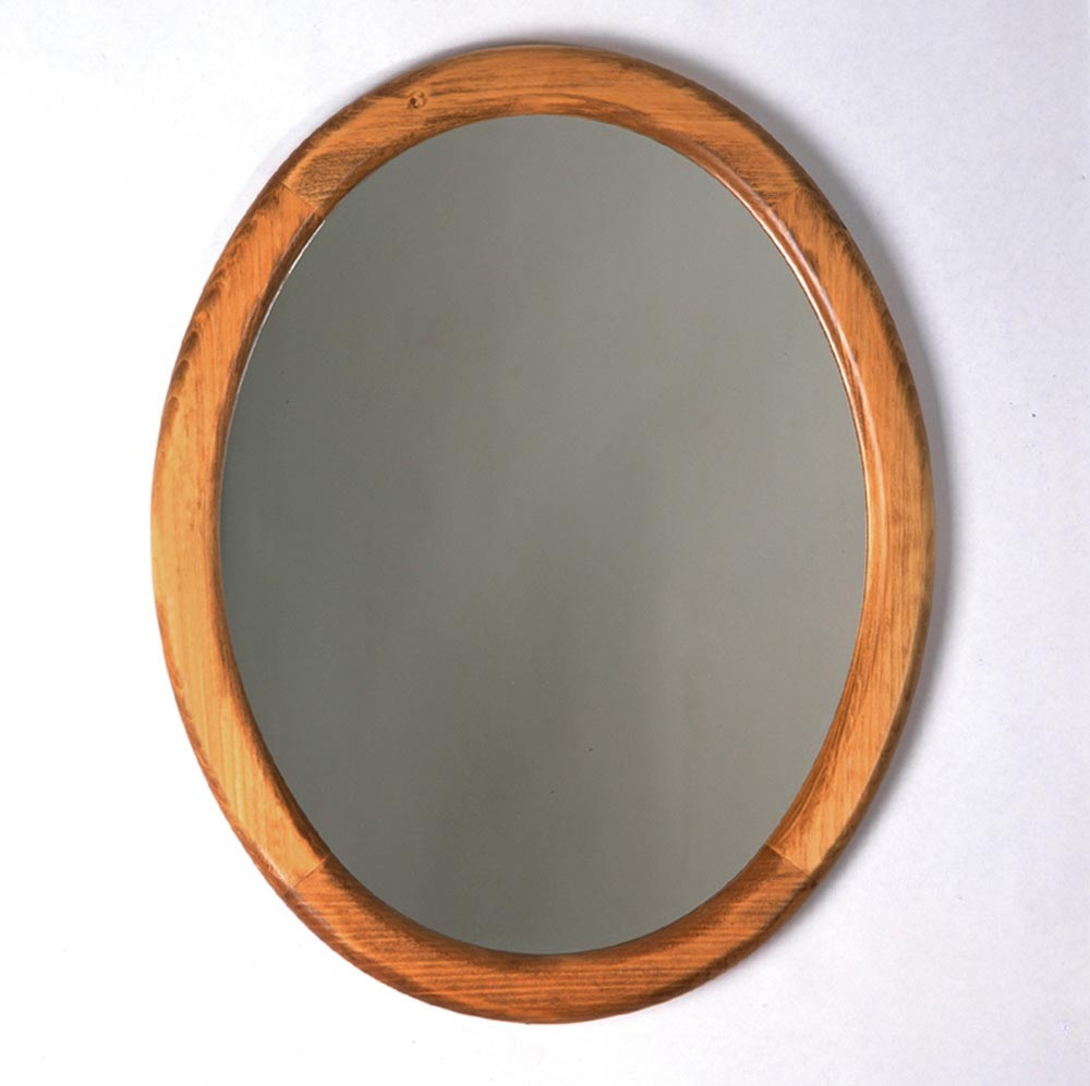 Oval Mirror Wood Frame Southern Pine Oval Mirror