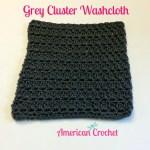 Grey Cluster Washcloth