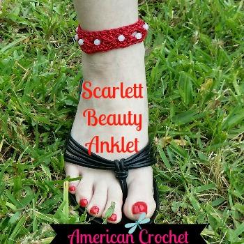 My Latest FREE Pattern ~ Scarlett Beauty Anklet