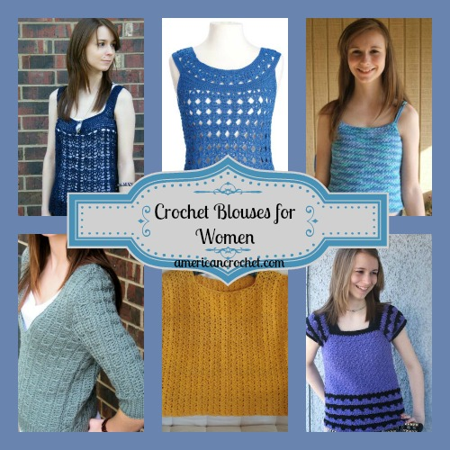 Crochet Blouses for Women Collage