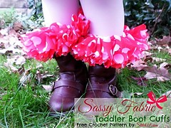 Toddler Sassy Fabric Boot Cuffs