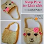 crochet sheep purse free pattern, collage
