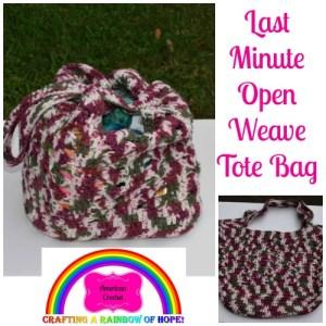 Last Minute Open Weave Tote Bag