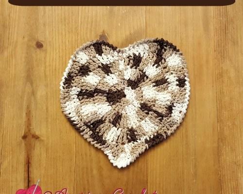 Shaded Heart Coaster browns
