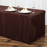"""6"""" (30 x 72) Rectangular Fitted Tablecloth (Chocolate ..."""