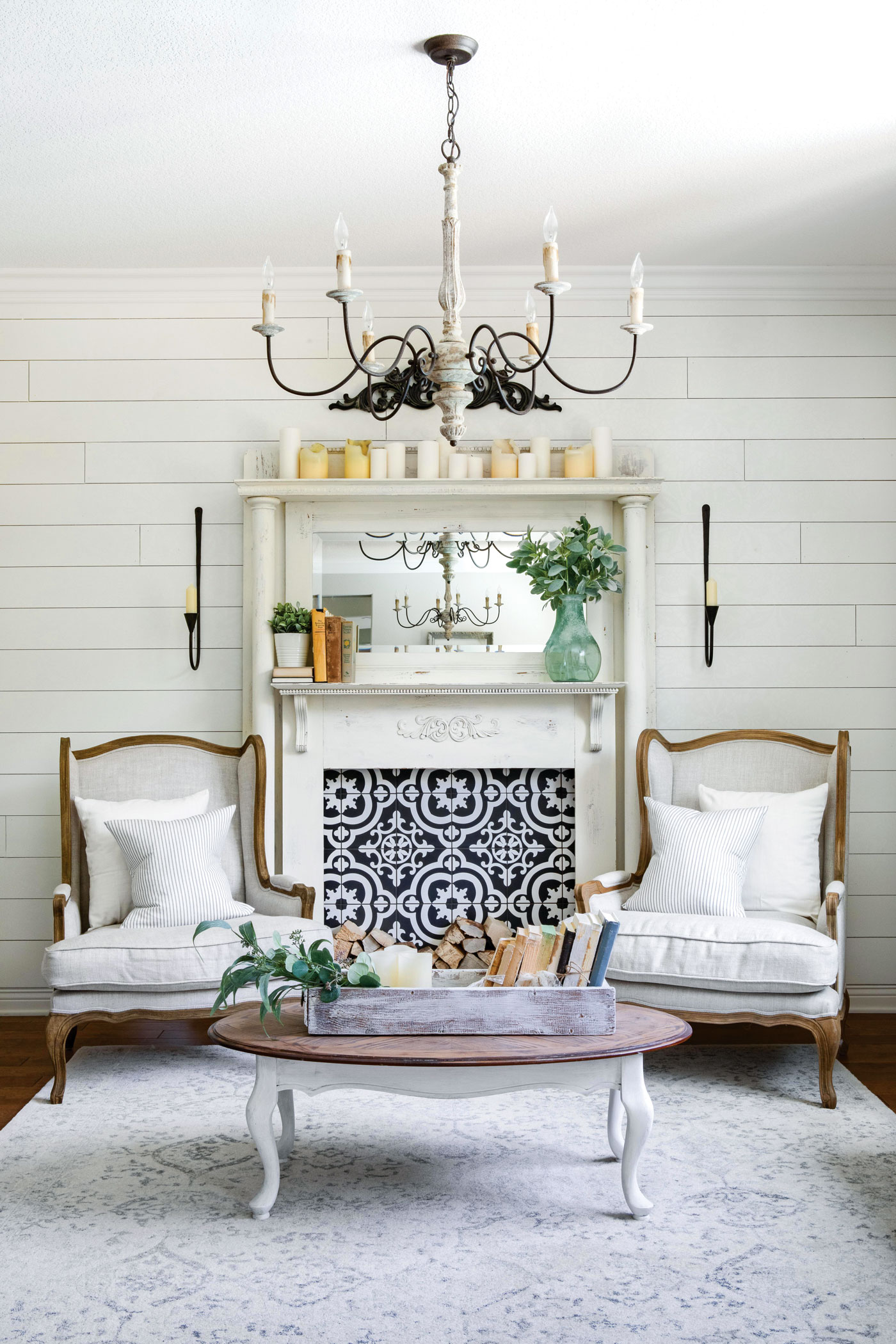 How To Design Your Mantel And Fireplace American Farmhouse Lifestyle