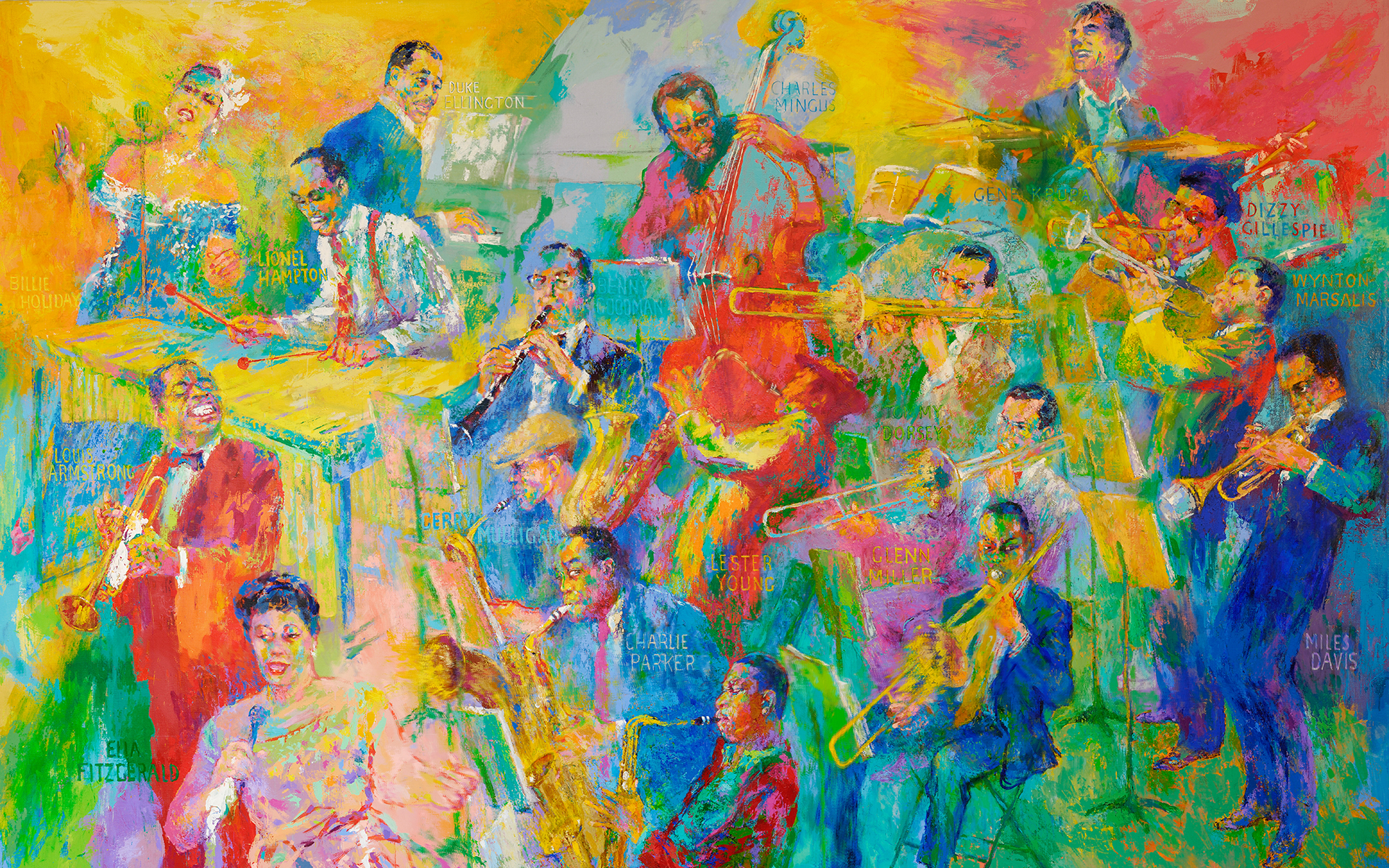 Fall Iphone Wallpaper Pinterest Leroy Neiman S Quot Big Band Quot Now On Display National Museum