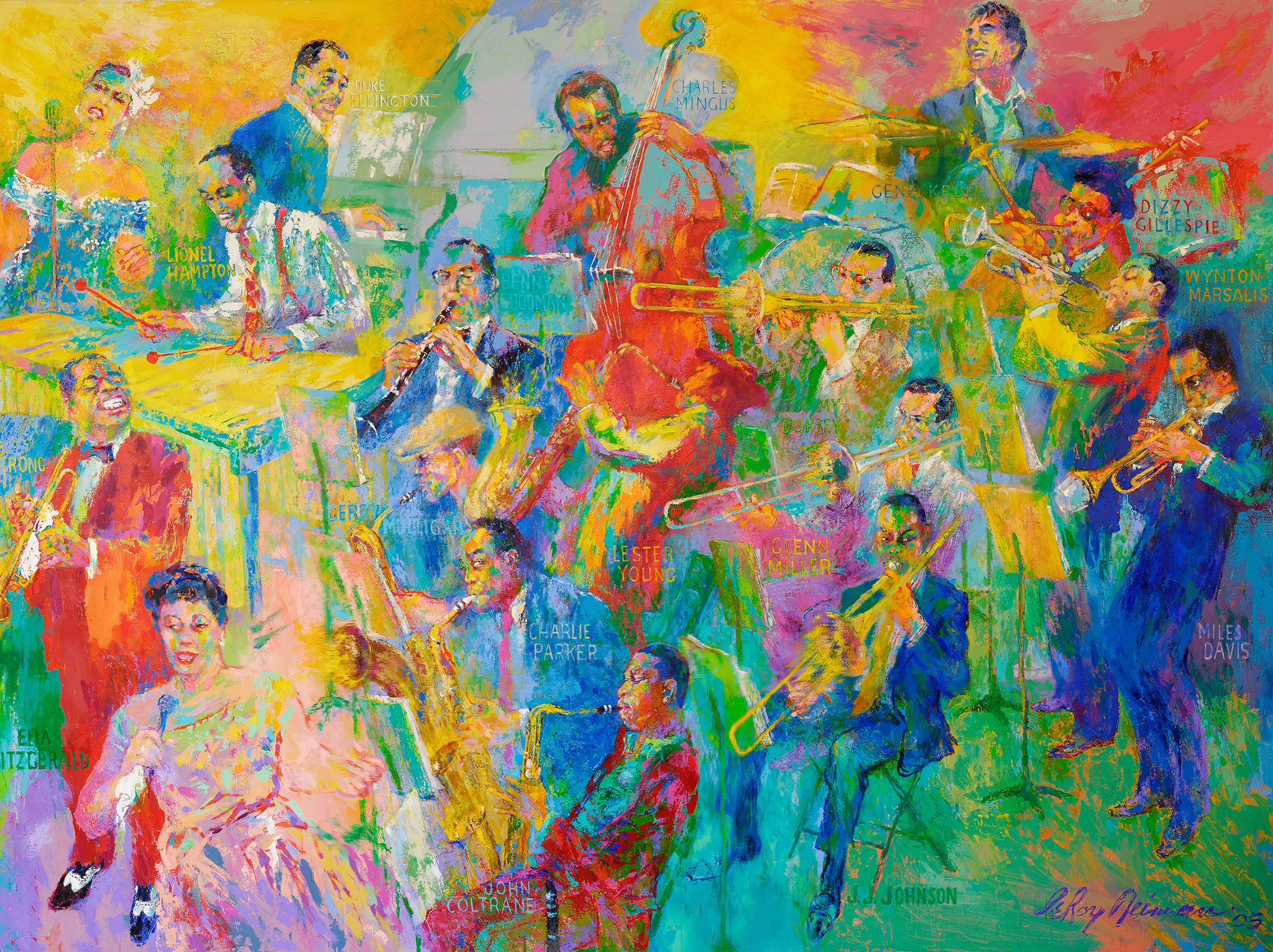 Fall Wallpaper For Android Tablet Leroy Neiman S Quot Big Band Quot Now On Display National Museum