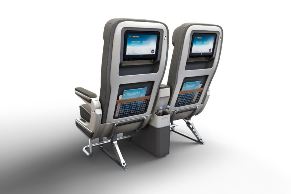 Premium Economy, 747-8 // CGI, Computer generated imagery PLEASE NOTE: Comparison front row, standard row, backside view available: 1034_03_0005, 1034_03_0006, 1034_03_0007