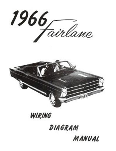 FORD 1966 Fairlane Wiring Diagram Manual 66 eBay