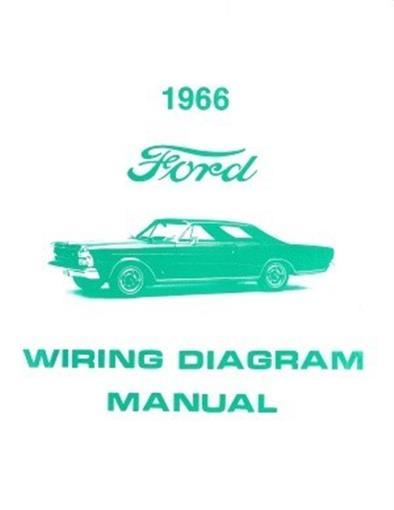 FORD 1966 Custom, Galaxie and LTD Wiring Diagram Manual eBay