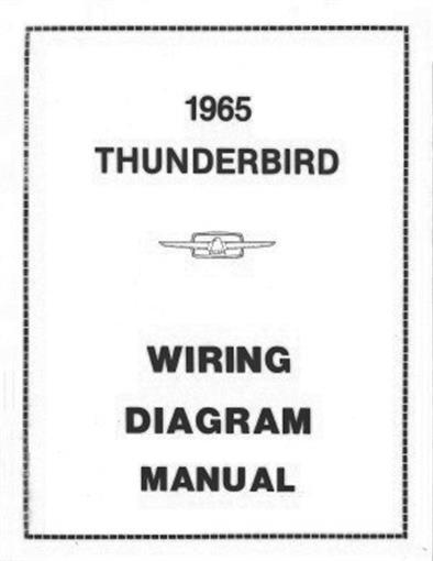FORD 1965 Thunderbird Wiring Diagram Manual 65 eBay