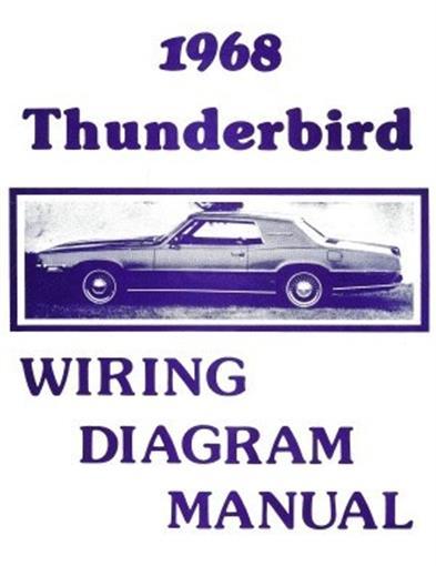 FORD 1968 Thunderbird Wiring Diagram Manual 68 eBay