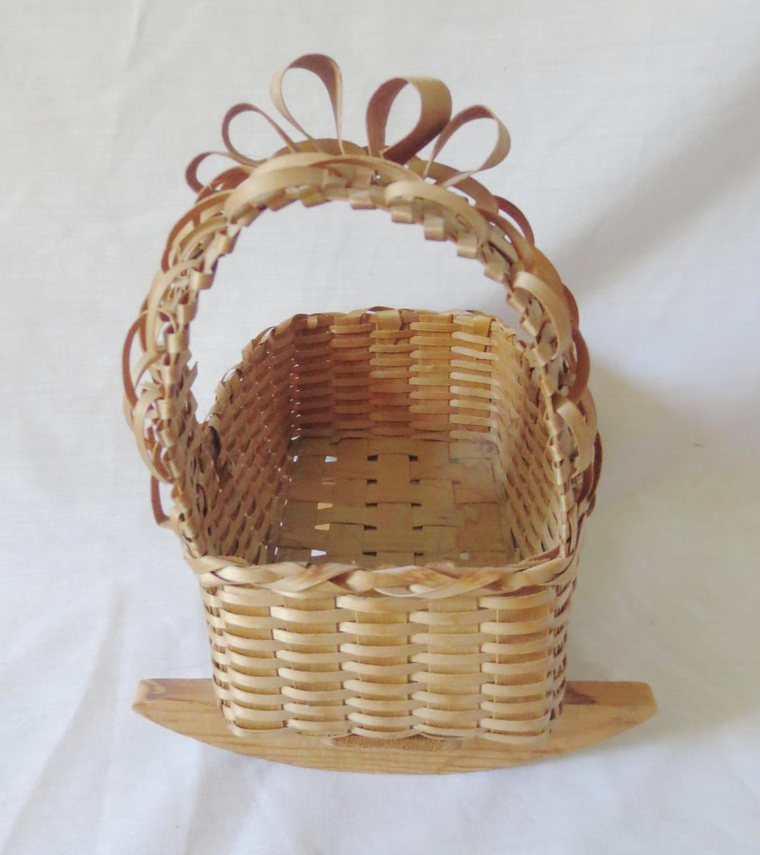 Fancy Baskets Fancy Vintage Passamaquoddy Doll Cradle Basket American