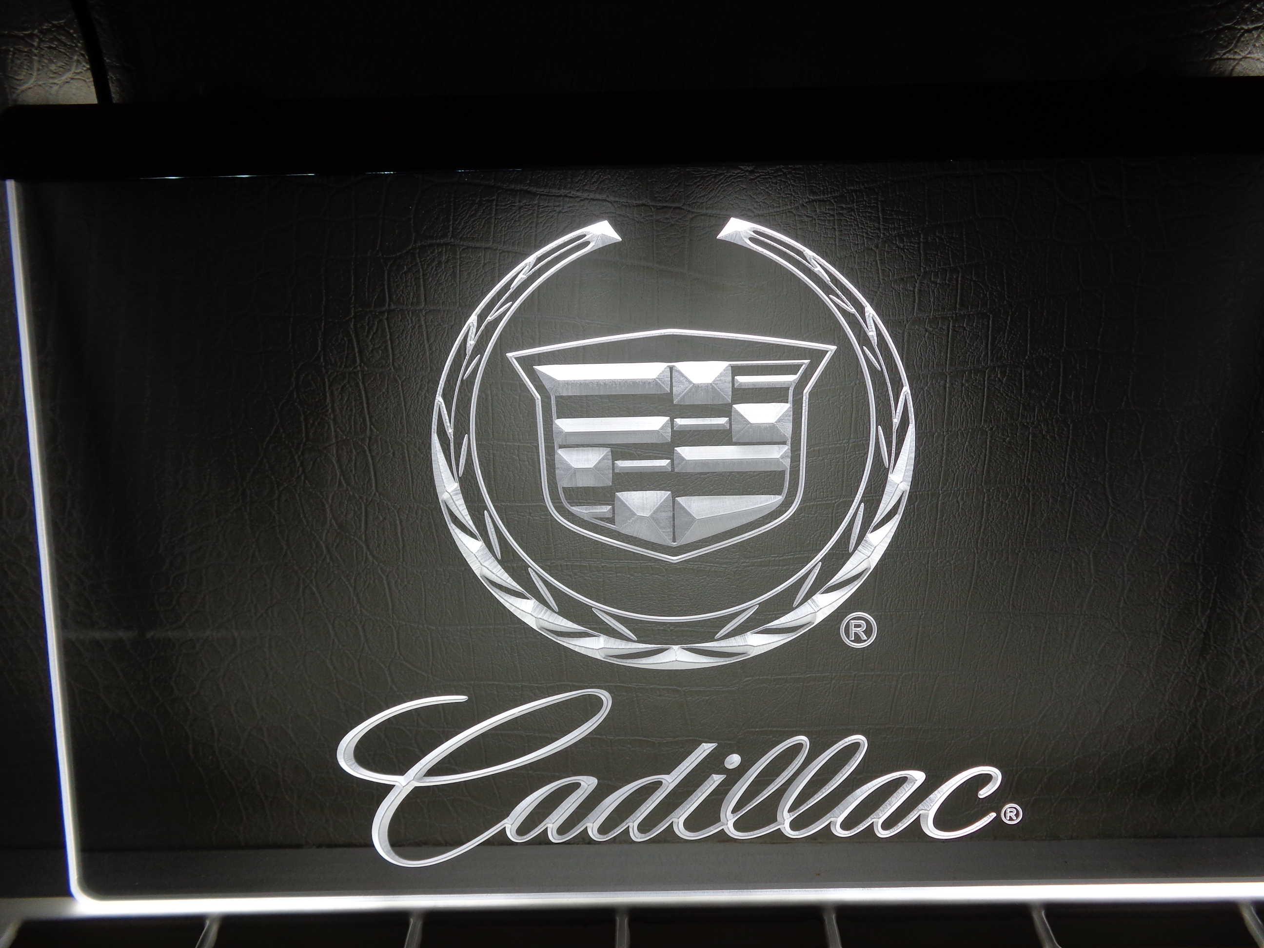 Auto Logo Verlichting Cadillac Logo 3d Led Reclame Verlichting