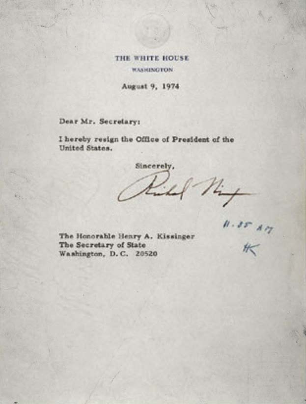 Richard M Nixon\u0027s Resignation Letter ✭ American Scraps - nixon resignation letter