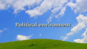 Political environnent