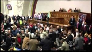 Fistfight breaks in Venezuela's congress