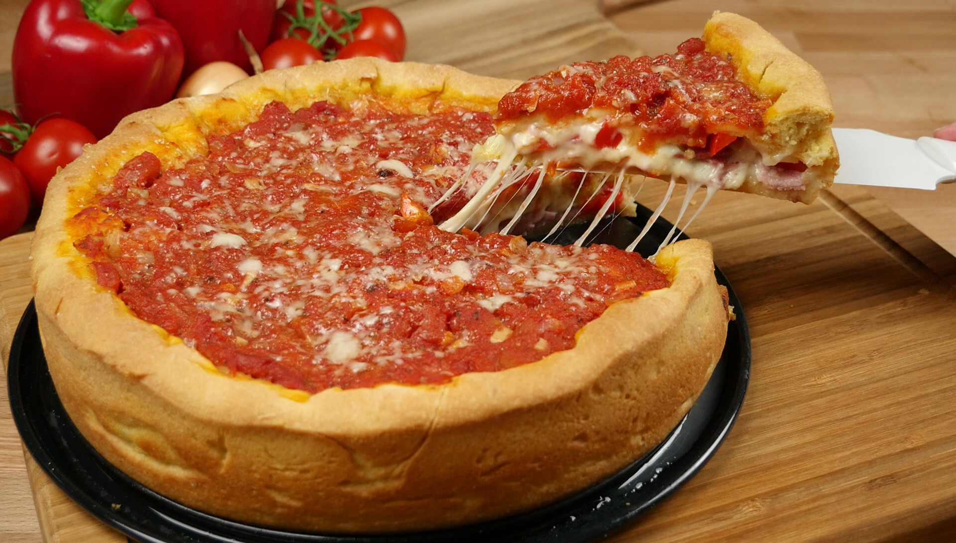 Kochen Und Küche Youtube Rezept Chicago Style Deep Dish Stuffed Pizza I Pizza Backen Im Chicago Style