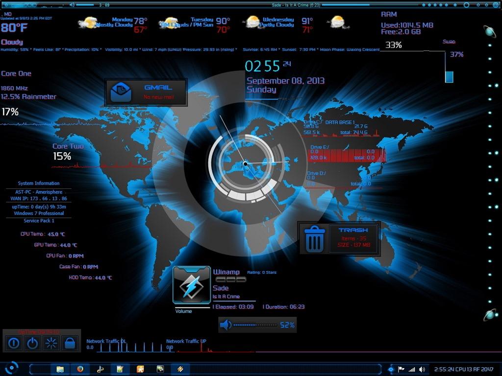Earth 3d Live Wallpaper Windows 7 Windows 7 Amerisphere Software Technologies