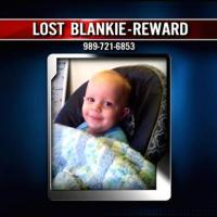 Mom offers reward on local news for lost blankie
