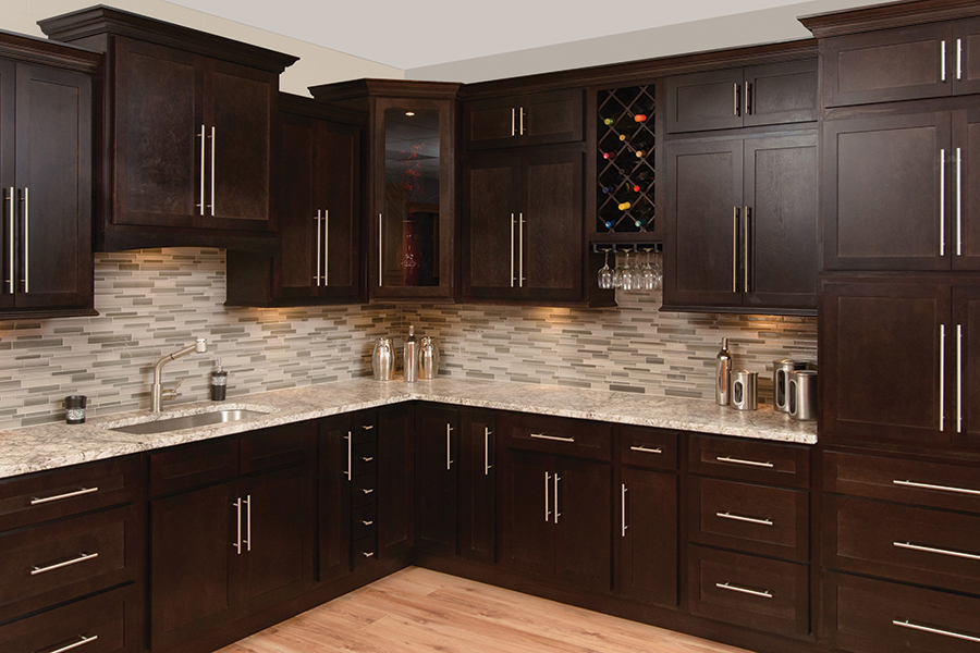 How To Stain Kitchen Cabinets Espresso Espresso Shaker – Amf Cabinets