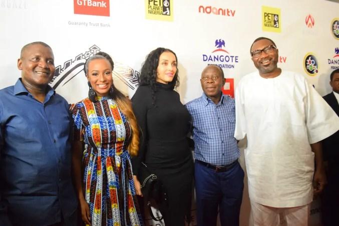 Aliko Dangote,Dj Cuppy,Adams Oshomole & Wfe With Femi Otedola-qualityrumor