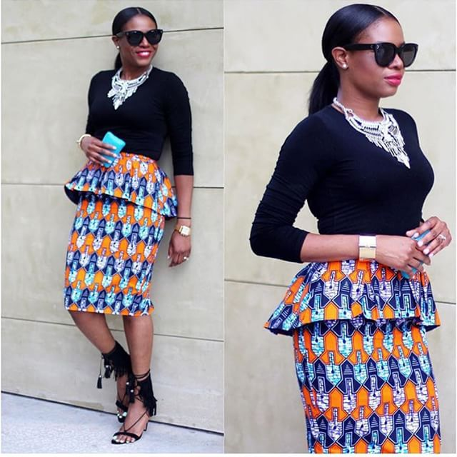6 Ankara Combination Short Skirts Inspired