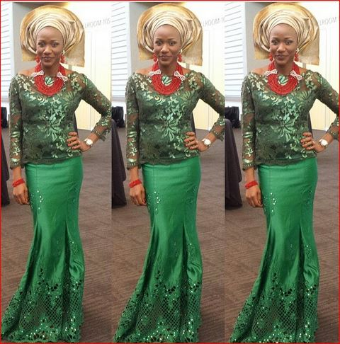 awesome aso ebi designs green amillionstyles