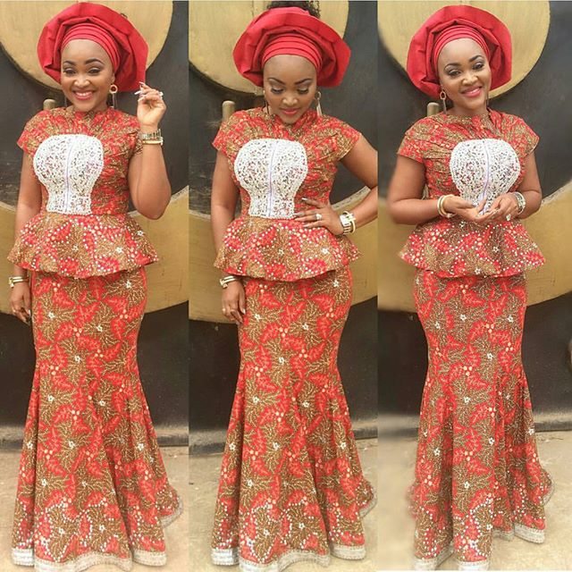 latest aso ebi styles @mercy-aigbe amillionstyles