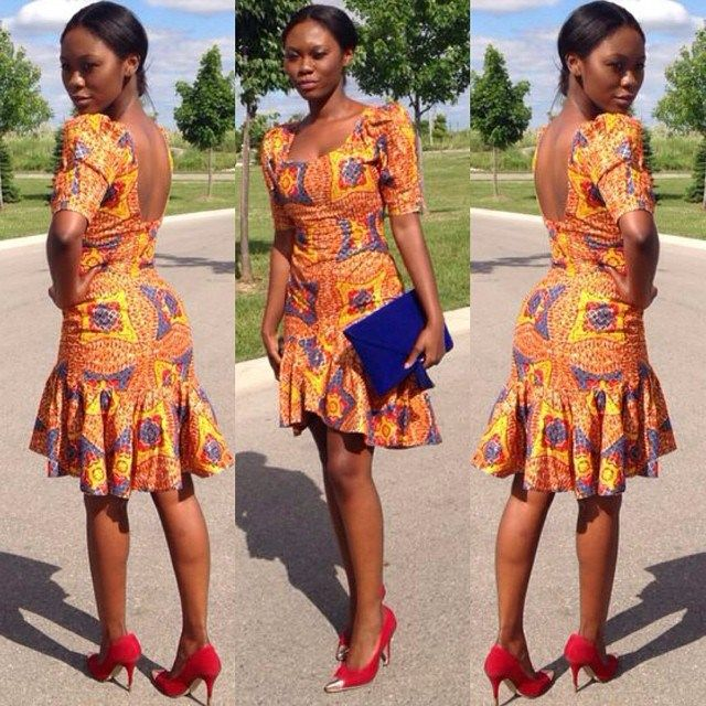 ankara short gown styles @debonke amillionstyles.com 1
