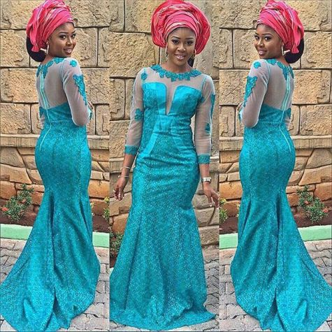 magnificent aso ebi styles in lace amillionstyles.com @chyplum-
