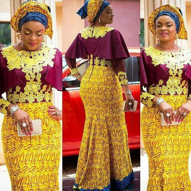 7 Perfect Aso Ebi Styles You Need To CopB Amillionstyles - Ankara Gown