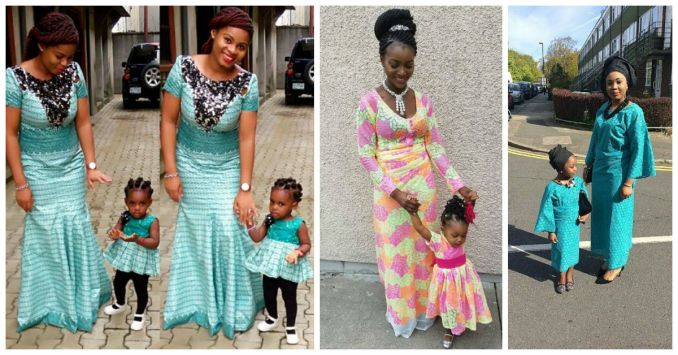Mother & Daughter Rocking Same Out Fit - Awesome