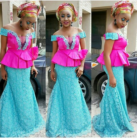 Aso Ebi Styles With This Trending Lace Designs-amillionstyles @julidatimo