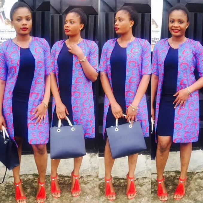 Fabulous Ankara Kimono Jacket amillionstyles @horlabeesee