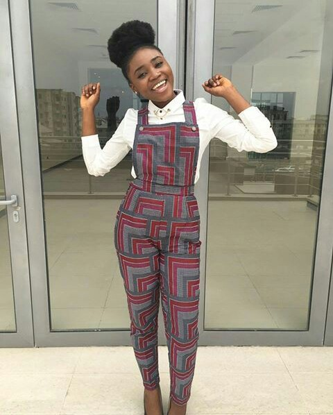Colorful Ankara In Dungarees Style amillionstyles @gracie_abby