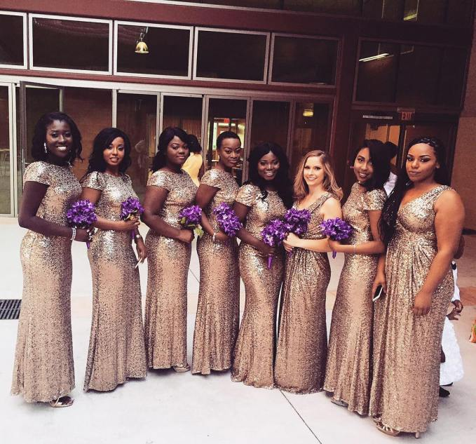 Delectable Bride And Bridesmaid Outfit 2016 amillionstyles @itsafiah-