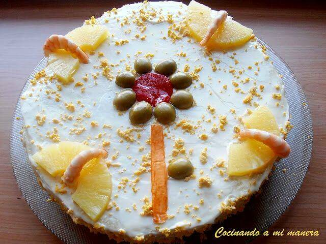 pastel salado de piña