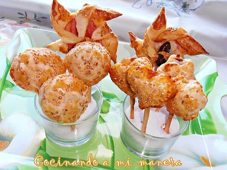 Aperitivos de hojaldre y queso - Como hacer aperitivos frios ...